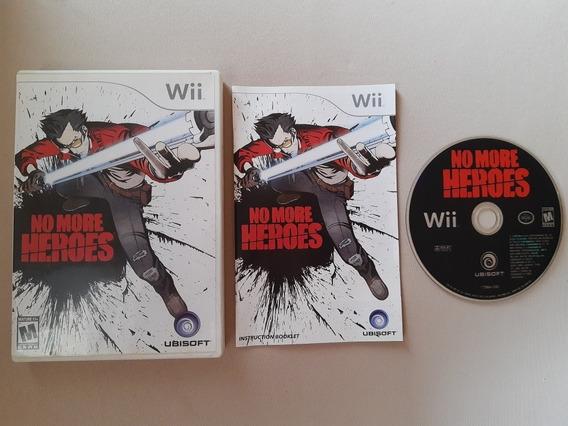 Wii: No More Heroes Original Americano Completo!! Raridade!!