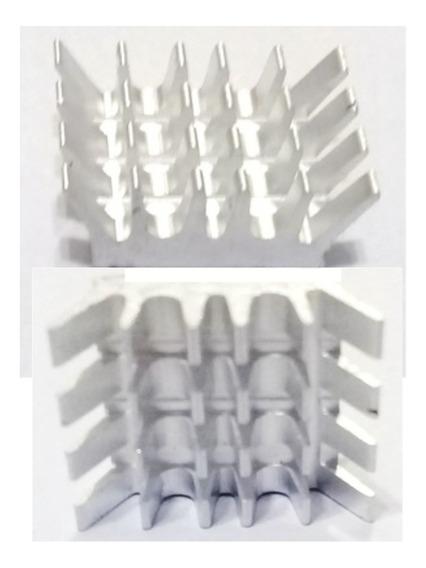 Dissipador Calor Alumínio C/ Adesivo Térmico 3m 15 Unidades