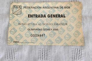 Entrada Boxeo Amateur - Fab - Olimpiadas Sidne 2000 - Usada-