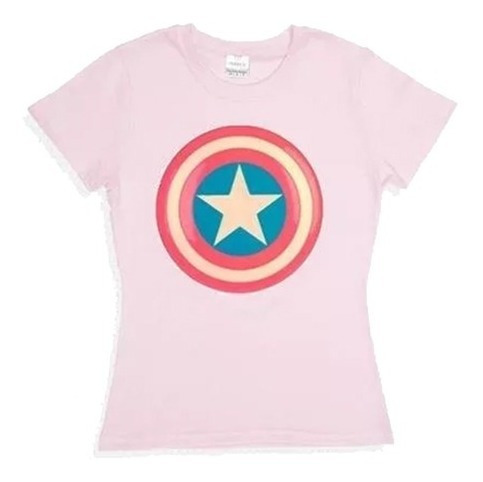 Playera O Blusa Capitana America Logo Escudo Moda Dama Unisx