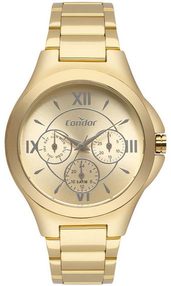 Relógio Condor Feminino Multifunçao Co6p29iu/4d Gold Oferta