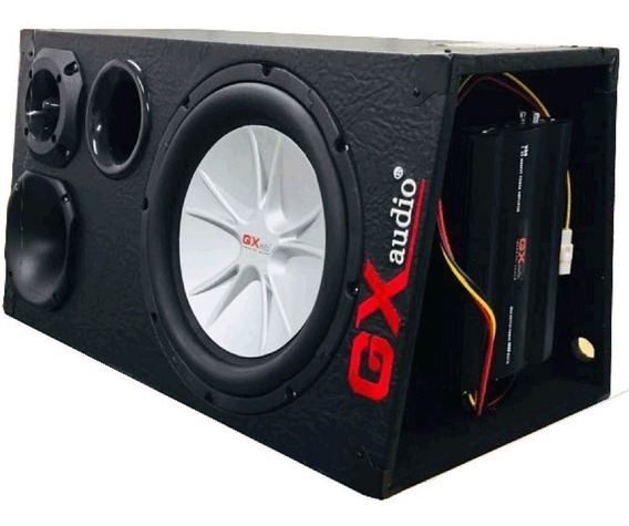 Caixa Trio Amplificada Completa 1200 Rms + Modulo Som