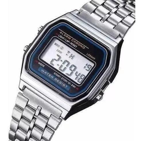 Relógio Social Retrô Vintage Prata Unisex.masculino Feminino