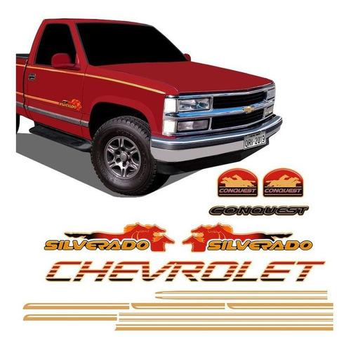 Imagem 1 de 10 de Adesivos Silverado Conquest 1999/2000 Kit Faixas Chevrolet