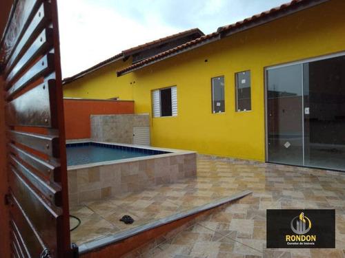 Casa Com 2 Dormitórios À Venda, 48 M² Por R$ 240.000 - Jardim Jamaica - Itanhaém/sp - Ca1361