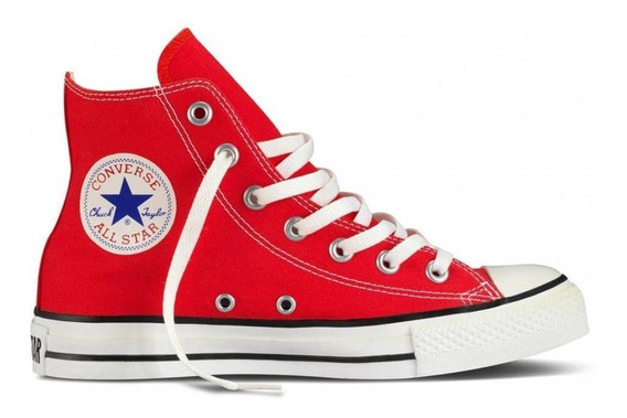 Tenis Converse-bota Rojo-unisex - 9621