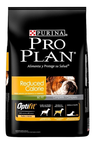 Alimento Pro Plan OptiFit Reduced Calorie para cachorro adulto de raça média/grande sabor frango/arroz em saco de 15kg