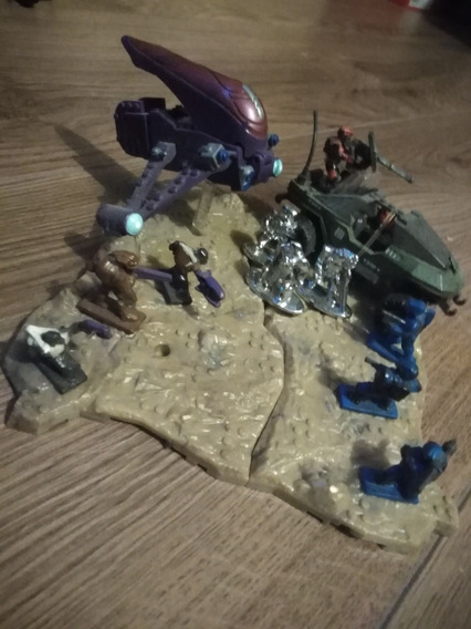 Halo Mega Bloks Set Nave Warhog Carro Metal Mini