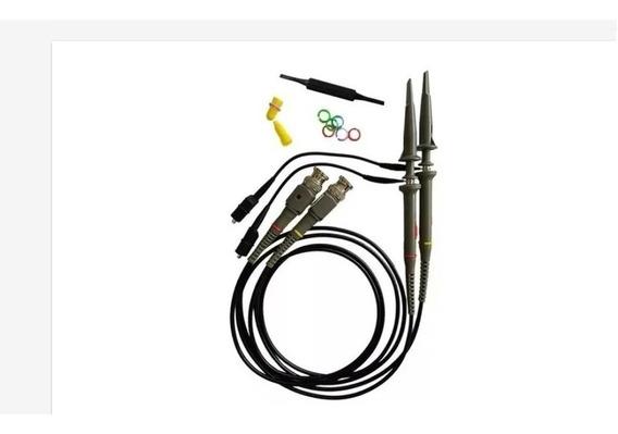Kit 2 Pontas Prova P/ Osciloscópio 10:1 X1 X10 100 Mhz P6100