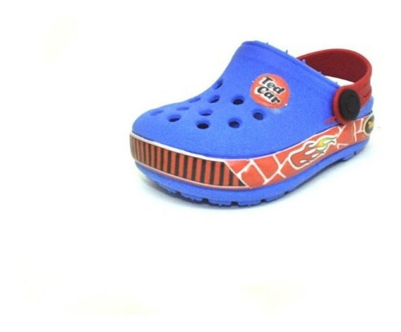 Babuche Sapato Menino Infantil Azul/vermelho