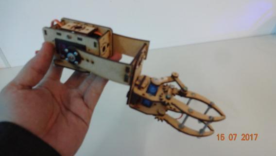 Garra E Suporte De Elevação Em Mdf Robotica Arduino