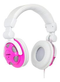Fone Headphone Style Dj Nipponic Nip-cd830 Branco/rosa