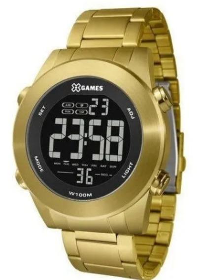 Relógio Masculino X Games Digital Dourado Frete Grátis
