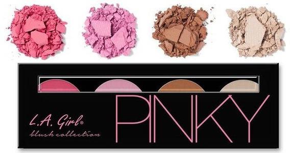 Paleta De Blush, Contorno E Iluminador L.a. Girl - Pinky