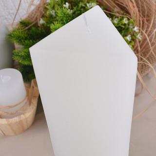 Vela Branca Grande Pilar Triangular 8x24,5cm