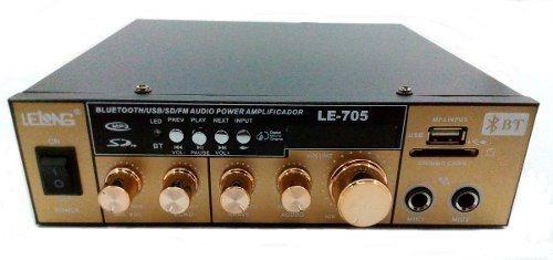 Mini Amplificador Àudio Estereo Bluetooth Rádio Karaokê Fm