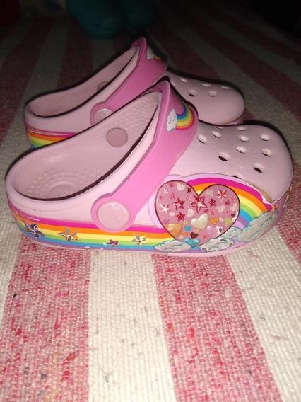 Crocs Usadas Nena Con Luz