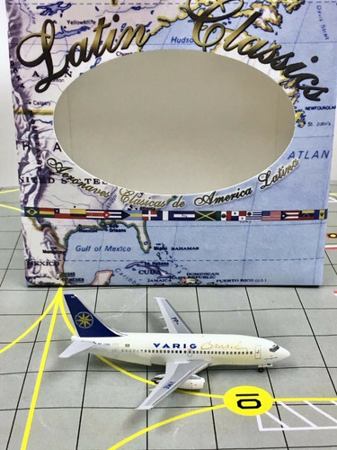 Miniatura Avião Aeroclassics 1:400 Varig 737-200 Pp-vme
