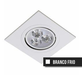 Spot Led Direcionável 3w Quadrado - Branco Frio - Bivolt