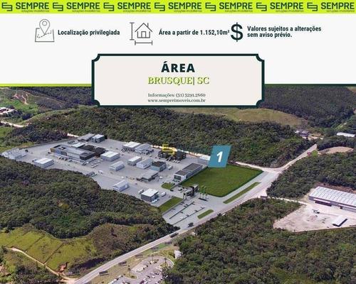Imagem 1 de 21 de Áreas / Terrenos À Venda A Partir De 1.152,10 M² Brusque/santa Catarina - Te0028