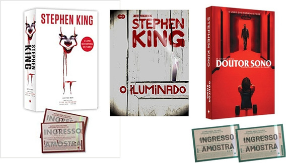 Livro It A Coisa 2 + O Iluminado + Doutor Sono Stephen King