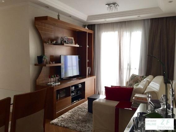 Apartamento A Venda, 2 Dormitorios, 2 Vagas De Garagem, Mooca, Cyrela, Pronto Para Morar, São Paulo - Ap03586 - 4972142
