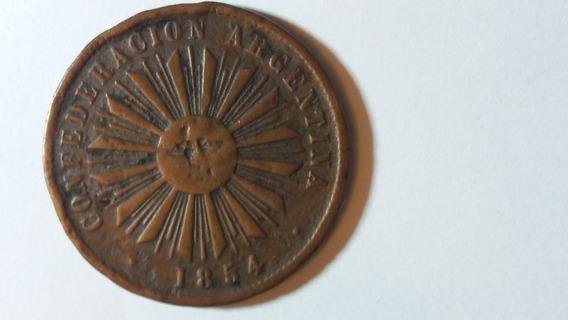 Moneda Confederación Argentina 4 Centavo * 1854*