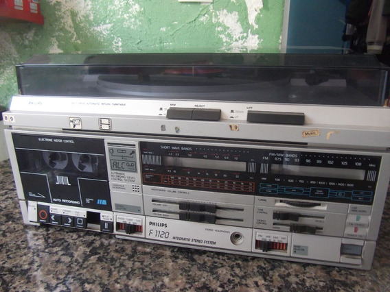Toca Discos Antigo Philips F1120 Funcionando Assista O Video