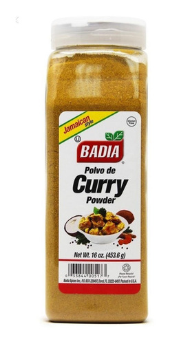 Badia Curry En Polvo Powder Jamaican Sty