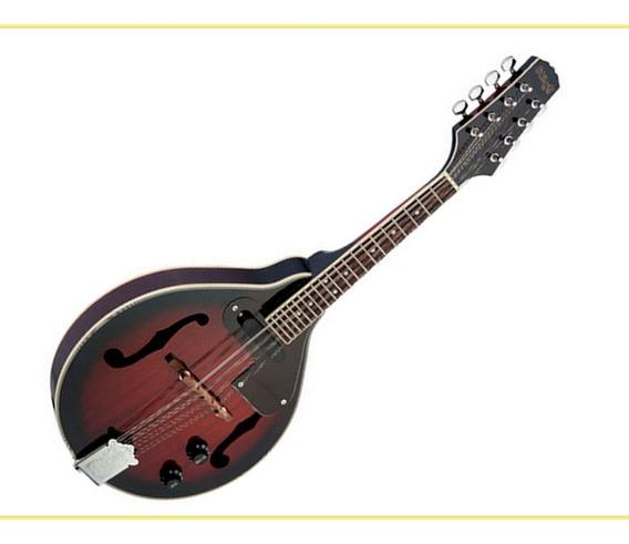 Mandolina Electro Acústica Stagg M50e Rojo Sunburst - Mic
