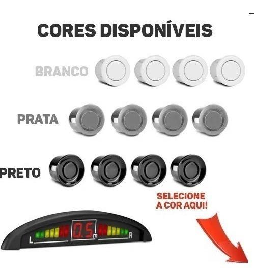 Sensor Ré Estacionamento 4 Sensores - Display E Sinal Sonoro
