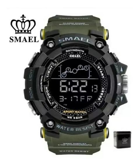 Relógio Smael Digital Tático Militar Prova D Água Na Caixa