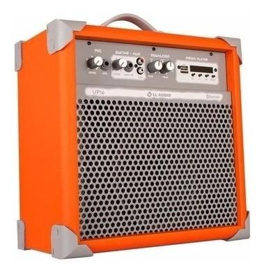 Caixa De Som Amplificada Multiuso Up!6 Oran Fm/usb/bluetooth