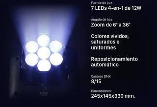 Cabezal Móvil Halo 712 Xl Wash, Beam Y Zoom Fervanero