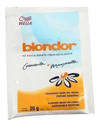Polvo Decolorante Wella Blondor Manzanilla Comomilla X20 Uni