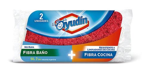Esponja Ayudin Baño Y Cocina Resistente No Raya 14x7cm X 2un
