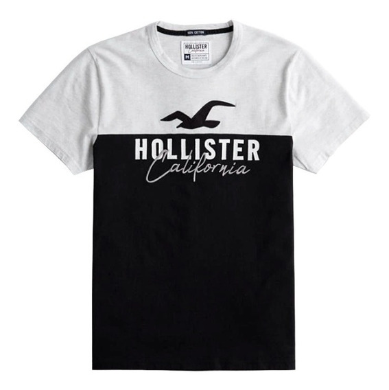 Camisa Camiseta Hollister Masculina Icon Logo Graphic Tee