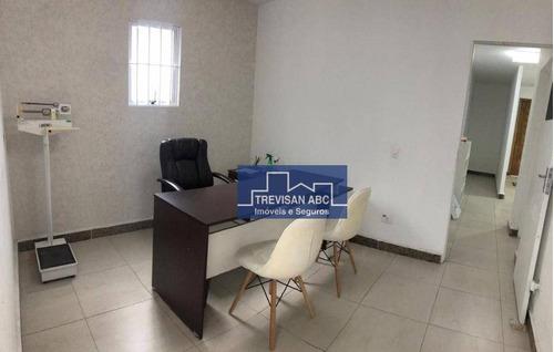 Imagem 1 de 7 de Sala Comercial Para Locação No Demarchi/sbc 3 Salas, 2 Vagas - Sa0123