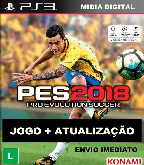 Promoção Pes 2018 Ps3+patch Completo Leia A Descrição