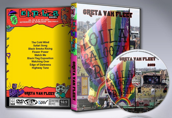 Dvd Greta Van Fleet - Lollapalooza Interlagos 2019 Br