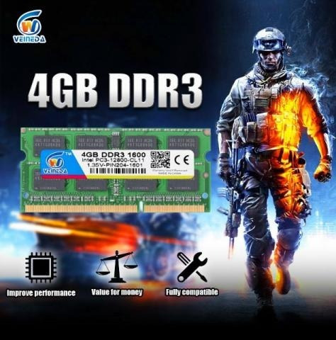 Memória Ddr3 4gb 1333mhz P/ Notebook & Netbook