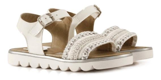 Sandalias Blancas Con Apliques De Niñas