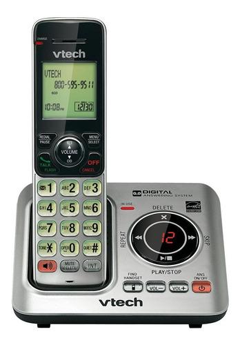 Imagen 1 de 2 de Teléfono inalámbrico VTech CS6629-2 negro y plateado