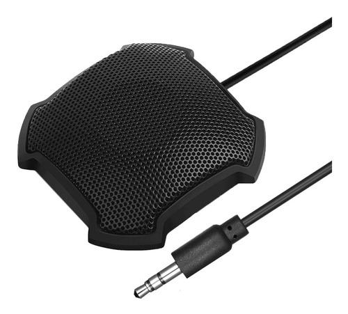 Imagem 1 de 9 de Microfone De Conferência De 3,5 Mm Plug Desktop 360°