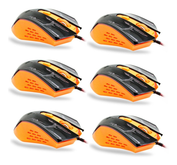 Kit Com 6 Mouse Gamer 3200dpi 6 Botoes Td-8000 Tda Atacado