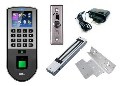 Imagen 1 de 10 de Combo Control De Acceso Biométrico Reloj Personal F19 Zkteco
