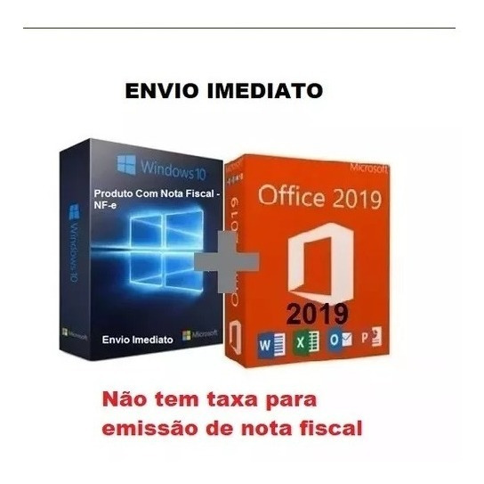 Windows 10 Pro Office 2019 Pro Chave Licença Download C/nfe