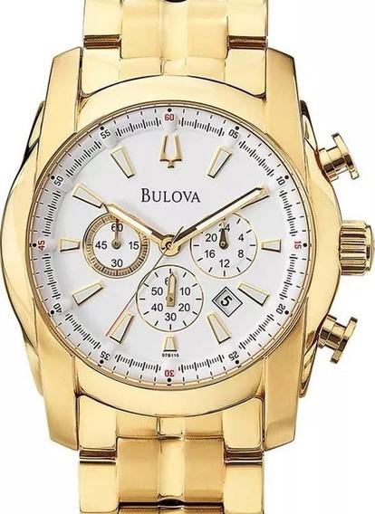 Relógio Bulova Masculino Dourado - Wb30980h