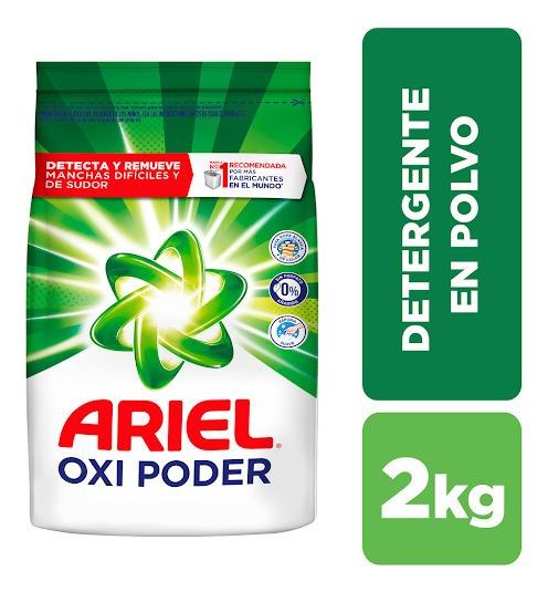 Detergente En Polvo Ariel Oxi Poder 2 Kg