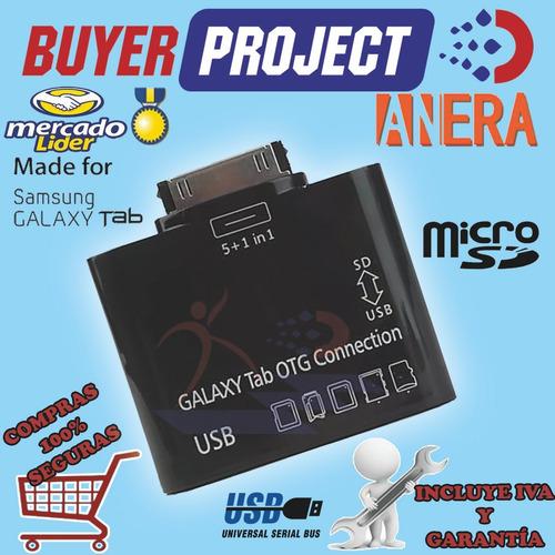 Lector Memorias Otg Micro Sd 5 En 1 + Usb Para Galaxy Tablet